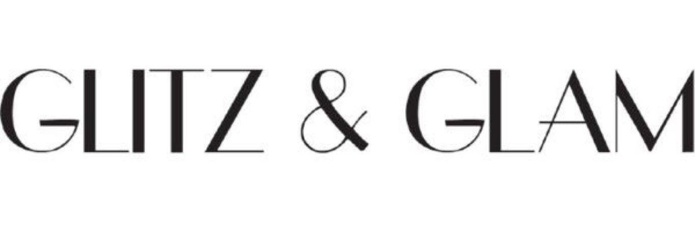 glitz and glam text