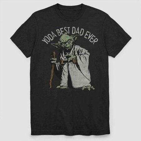 Men's Star Wars Yoda Best Dad Ever Short Sleeve Graphic T-Shirt - Black : Target