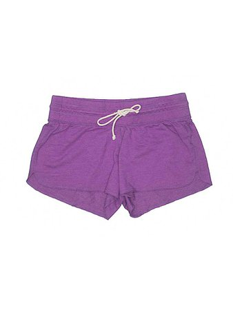 Old Navy Solid Dark Purple Shorts