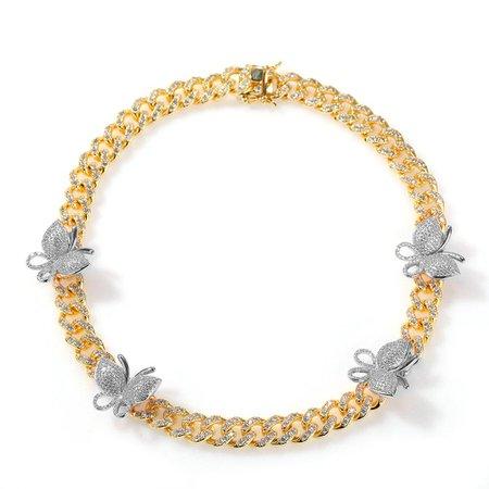 12mm Butterfly cuban link chain - Rose Gold – Bijouterie Gonin