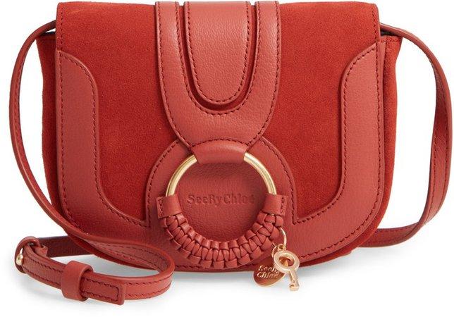 Mini Hana Leather Crossbody Bag