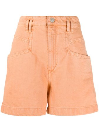 Isabel Marant Esquia Shorts SH034520E010I Orange | Farfetch