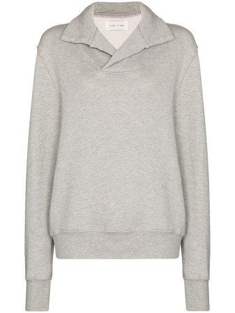Shop Les Tien Yacht mélange-effect cotton sweatshirt with Express Delivery - Farfetch