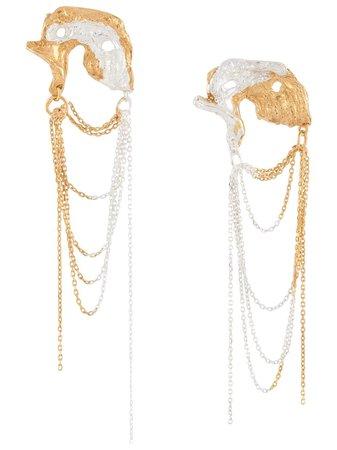 LOVENESS LEE Orion chain-drop Earrings - Farfetch