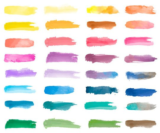 Colorful watercolor patch background vector Vector | Free Download