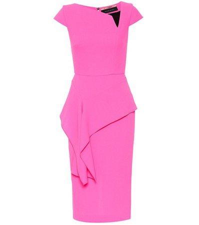 Dandridge wool crêpe dress