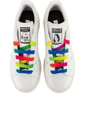 Stella McCartney Stan Smith Sneakers in White & Multicolor | FWRD