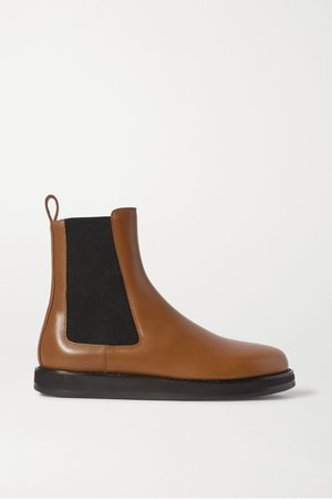 Tan Leather Chelsea boots | The Row | NET-A-PORTER