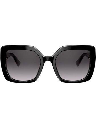 Valentino Eyewear VLOGO oversized-frame Sunglasses - Farfetch