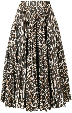 pleated leopard print skirt b