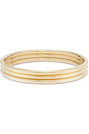 Jennifer Fisher | Set of three gold-plated bangles | NET-A-PORTER.COM