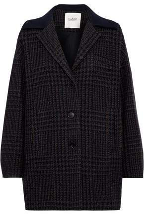 Told Checked Wool-blend Coat