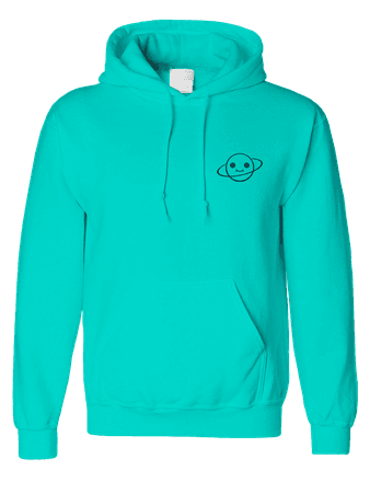 Mint Cosmic Hoodie - Embroidered