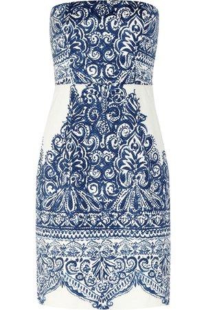 J.CREW Ella strapless printed cotton-blend piqué dress