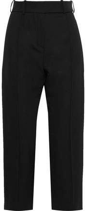 Cropped Wool Straight-leg Pants