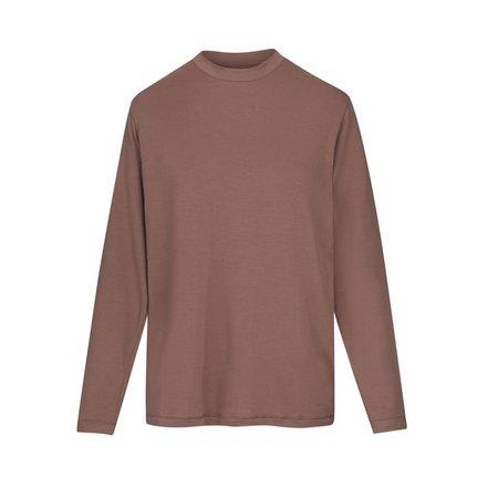 Boyfriend Long Sleeve T-Shirt - UMBER   SKIMS