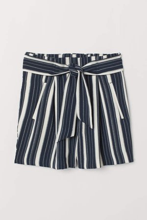 Fitted Shorts - Blue