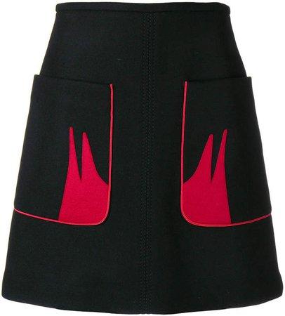 contrast pocket skirt