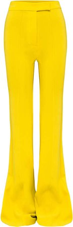 Alex Perry Rene Stretch Crepe Flared Trousers
