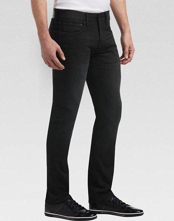 black fancy jeans