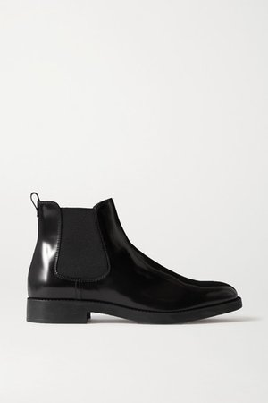 Patent-leather Chelsea Boots - Black