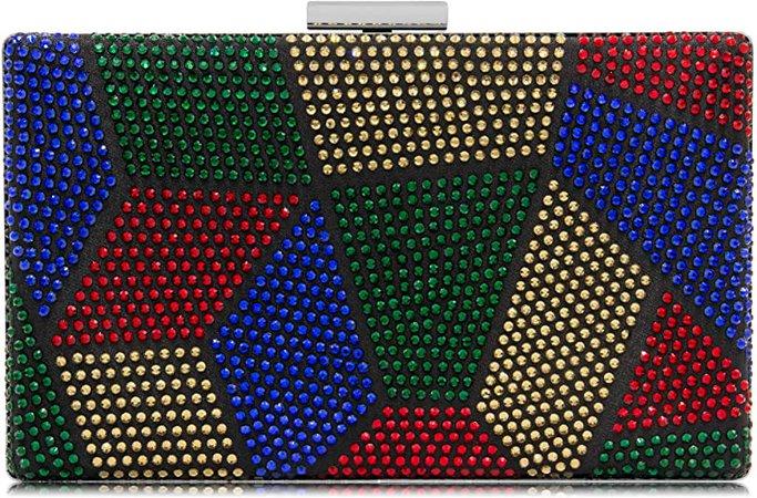 Yekajlin Clutches Bag for Women, Crystal Sparkly Evening Clutch Bag Rhinestone Glitter Clutch Purse (M): Handbags: Amazon.com