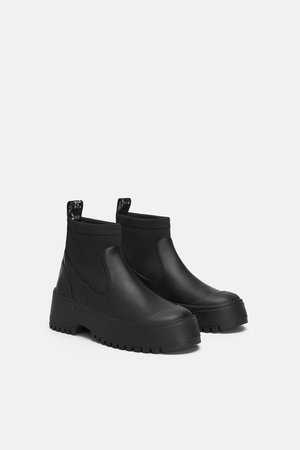 TRACK SOLE SOCK - STYLE FLAT ANKLE BOOTS-View all-SHOES-WOMAN-SALE | ZARA New Zealand