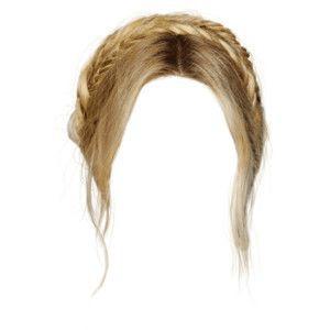 BLONDE HAIR PNG BRAID CROWN
