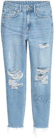 Mom Jeans Trashed - Blue