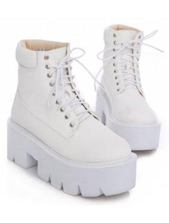 white platforms
