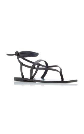 James Snake-Effect Leather Sandals By A.emery   Moda Operandi