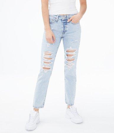 Real Denim Low-Rise Boyfriend Ankle Jean