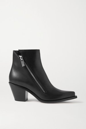 Santiazip 65 Leather Ankle Boots - Black