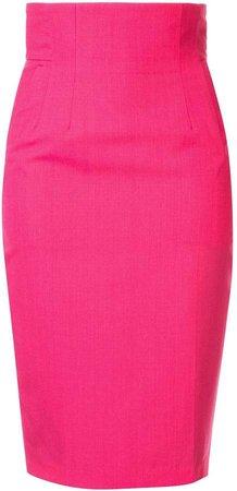high-waist pencil skirt