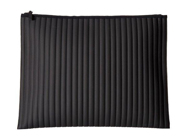 NO KA'OI - Striped Gummed Pouch (Black) Clutch Handbags