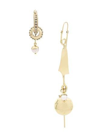 Ellery Pendientes Asimétricos Con Perlas - Farfetch