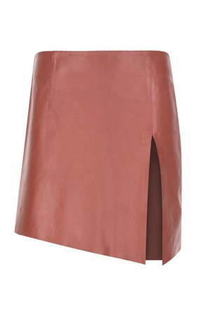 Deep Slit Mini Leather Skirt By Zeynep Arçay | Moda Operandi