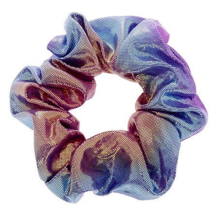 Mermaid Holographic Hair Scrunchie | Claire's