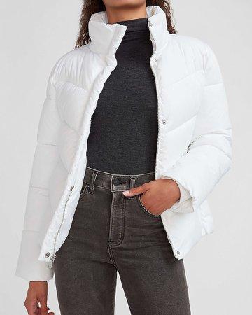 Zip Front Puffer Coat