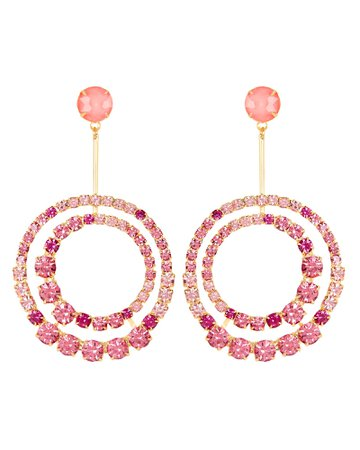 Elizabeth Cole Gia Crystal Circle Drop Earrings | INTERMIX®