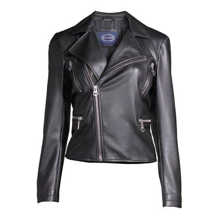 Scoop - Scoop Women's Faux Leather Moto Jacket - Walmart.com - Walmart.com black