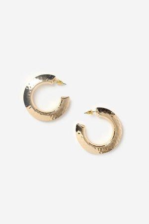 **Hammered Hoop Earrings | Topshop