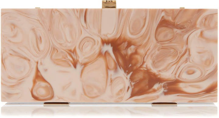 Marzook Marbled Resin Box Clutch