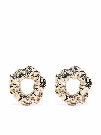 Jacquemus textured hoop earrings - FARFETCH