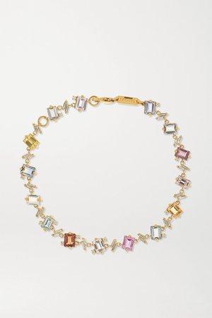 Gold 18-karat gold, sapphire and diamond tennis bracelet | Suzanne Kalan | NET-A-PORTER