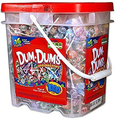 Amazon.com : DUM DUMS Lollipops, Variety Flavor Mix, 1, 000 Count Bucket : Suckers And Lollipops : Grocery & Gourmet Food