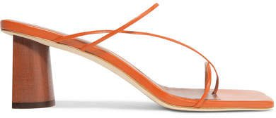 Harley Leather Sandals - Orange