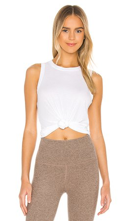 Beyond Yoga On The Down Low Muscle Tank in White | REVOLVE