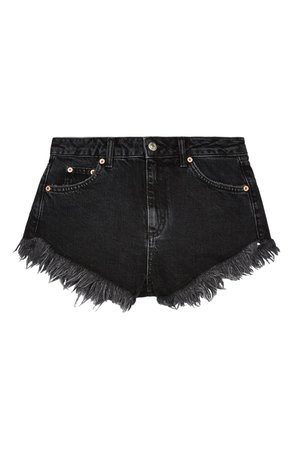 Topshop Kiri Frayed Denim Shorts | Nordstrom