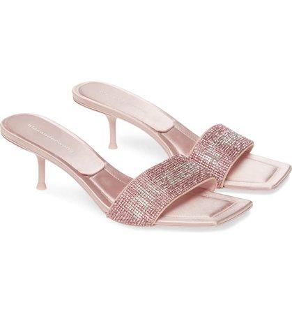 Alexander Wang Jessie Crystal Kitten Heel Sandal (Women) (Nordstrom Exclusive)   Nordstrom
